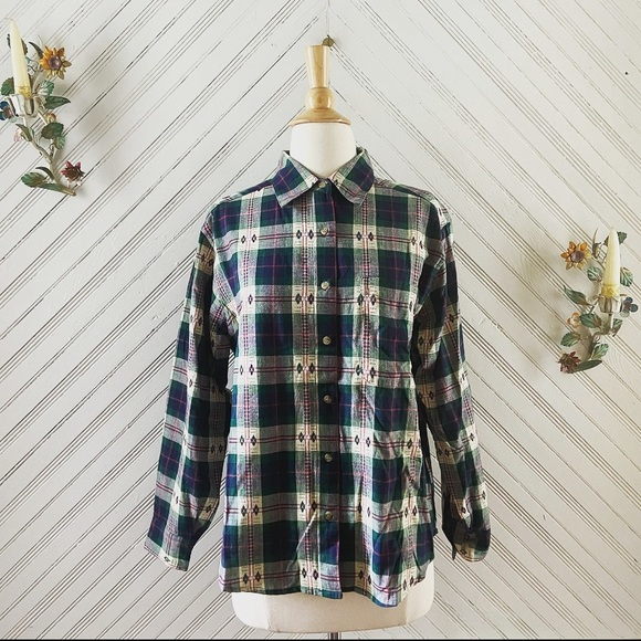 Vintage Plaid Camping Button Down